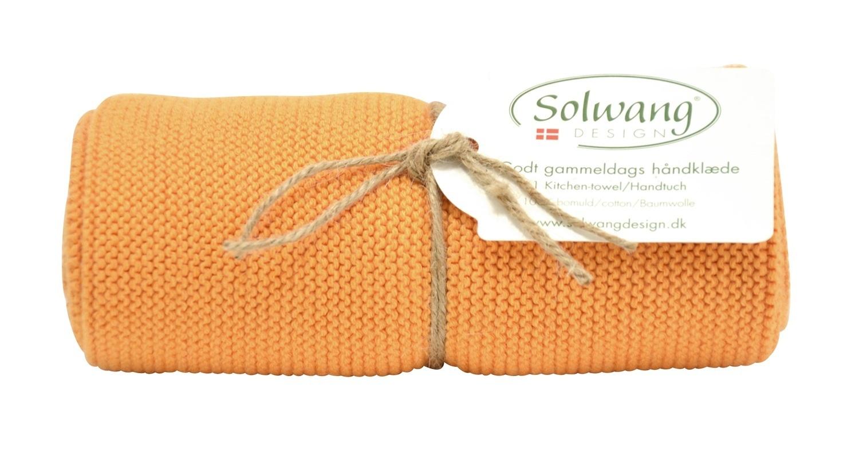coral dunkel H16 Solwang DK Handtuch Küchentuch gestrickt