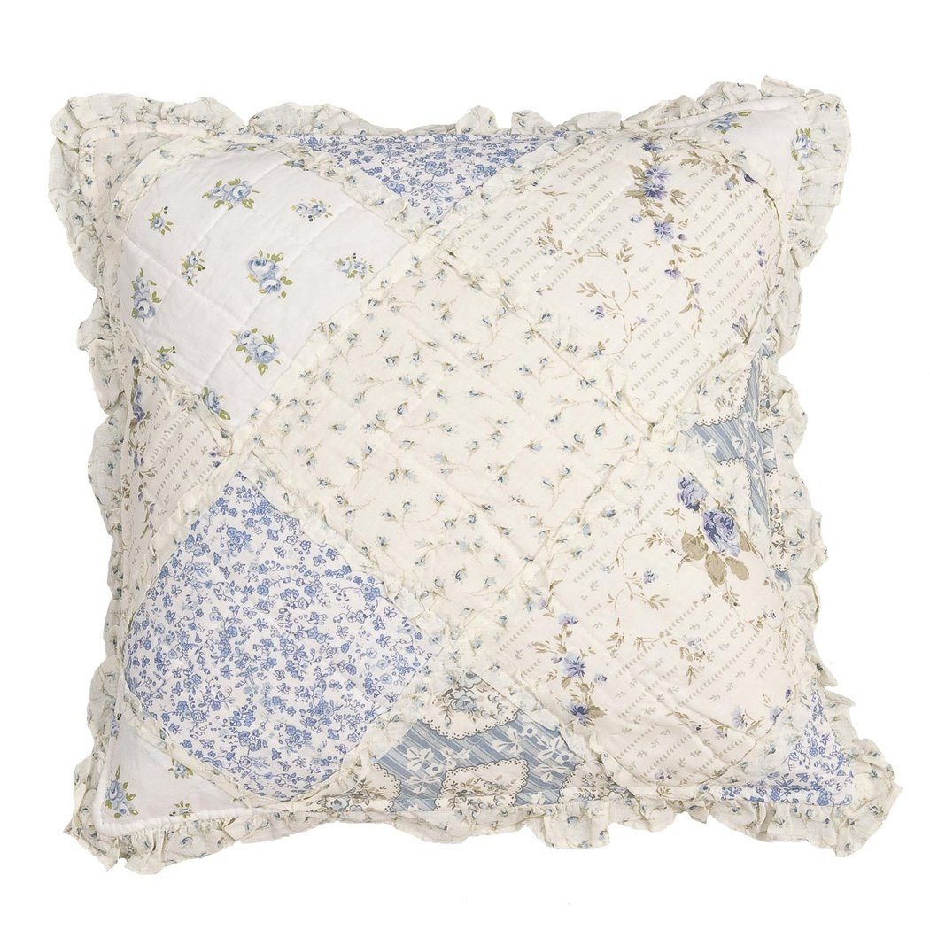 Clayre /& Eef Kissenhülle Kissenbezug gequiltet Baumwolle 40 x 40 cm
