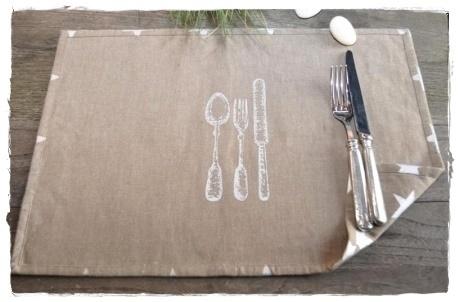 Besteck tischset platzdeckchen by artefina design for Tischset design