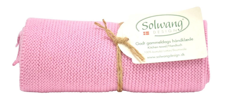 Handtuch Küchentuch Gestrickt Rosa Hell H17 Solwang Design