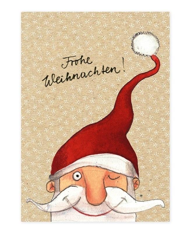 Postkarte, Karte FROHE WEIHNACHTEN Weihnachtsmann Grätz Verlag