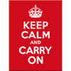 Magnet KEEP CALM AND CARRY ON 8x6cm