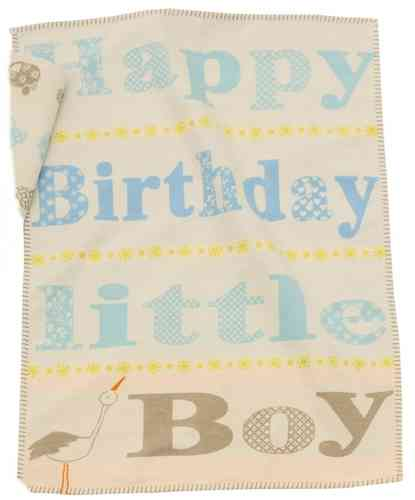 Baby- Kinderdecke LILI BIRTHDAY BOY 70x90cm