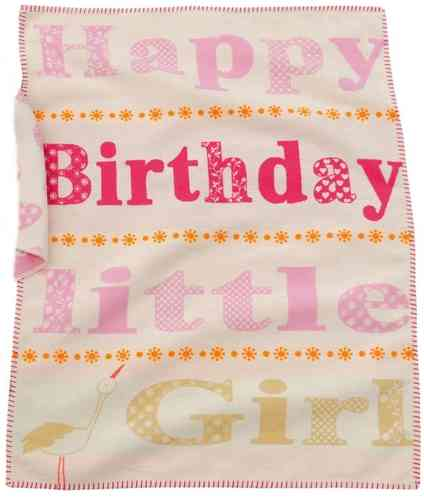 Baby- Kinderdecke LILI BIRTHDAY GIRL 70x90cm