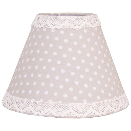 big dots beige lampenschirm e14 e27 clayre eef. Black Bedroom Furniture Sets. Home Design Ideas