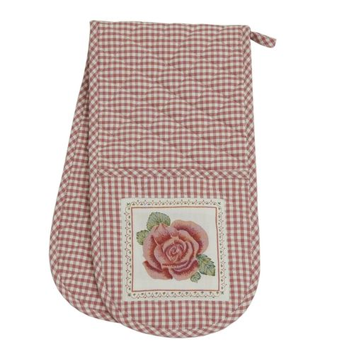ROMANTIC ROSE rosa doppelter Ofenhandschuh Clayre & Eef