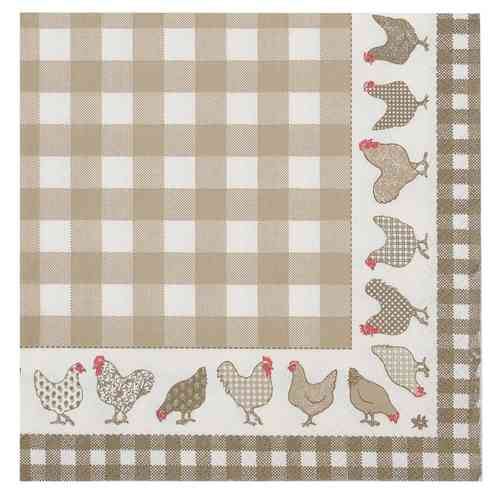 CHICKEN ALL OVER natur 20 Papierservietten Clayre & Eef