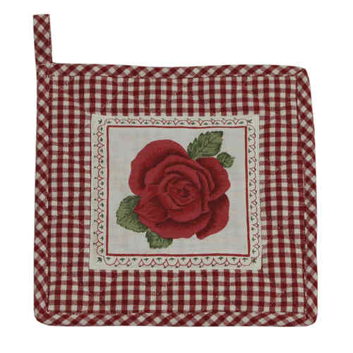 ROMANTIC ROSE rot Topflappen Clayre & Eef