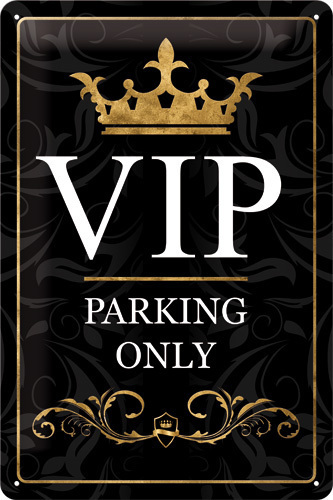 Blechschild VIP PARKING ONLY  20x30cm