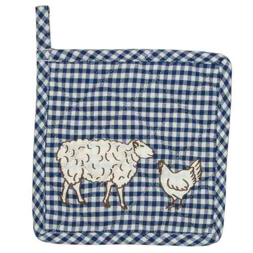 ANIMAL CHECK blau Kinder - Topflappen Clayre & Eef
