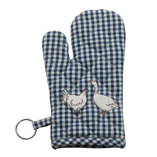 ANIMAL CHECK blau Kinder - Ofenhandschuh Clayre & Eef