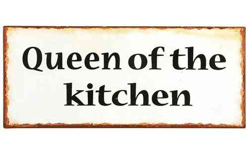 Vintage Metallschild QUEEN OF THE KITCHEN 30cm