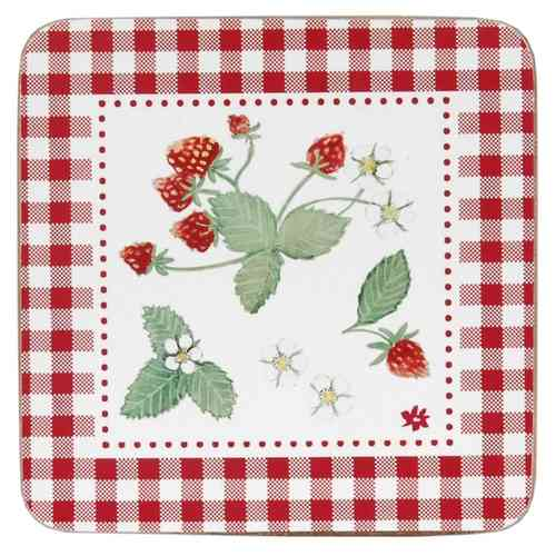 STRAWBERRY GARDEN Glasuntersetzer 6-teilig Clayre & Eef