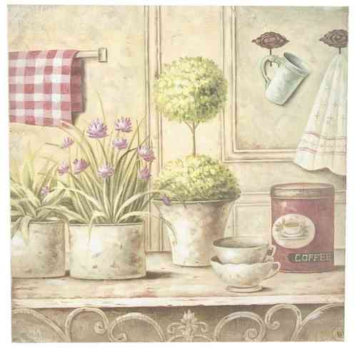 Bild, Druck COUNTRY LIVING 50x50x3cm
