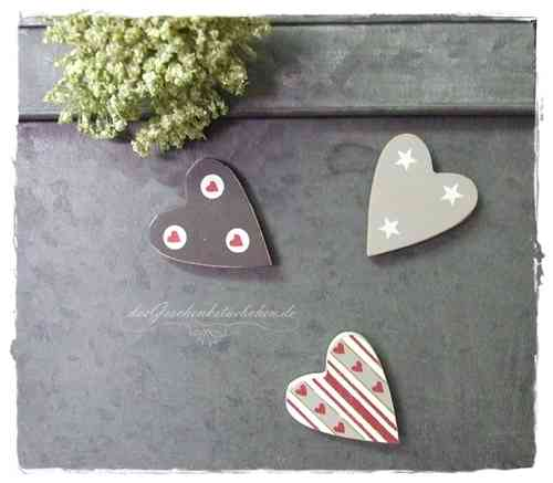 Magnet HERZ GRAY Heart by Madleys Farbauswahl
