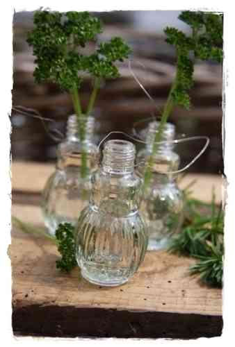 Mini Glasflasche *B 5cm Scandinavian Country Style by Madleys