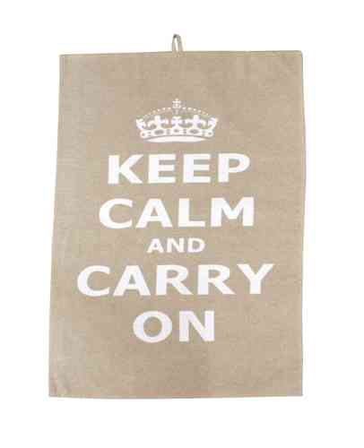 Geschirrtuch KEEP CALM beige by Krasilnikoff