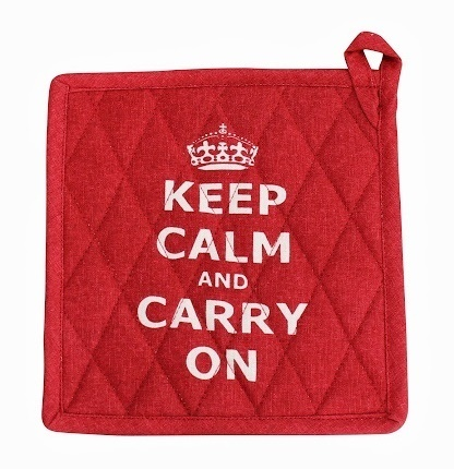 Topflappen KEEP CALM rot by Krasilnikoff