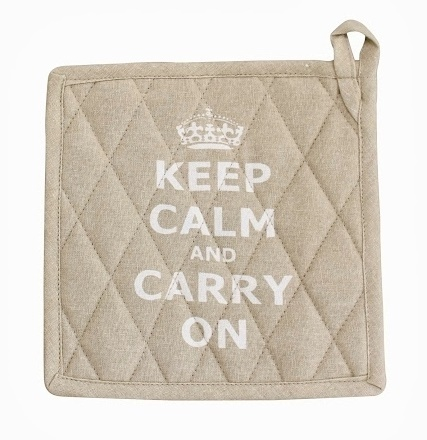 Topflappen KEEP CALM beige by Krasilnikoff