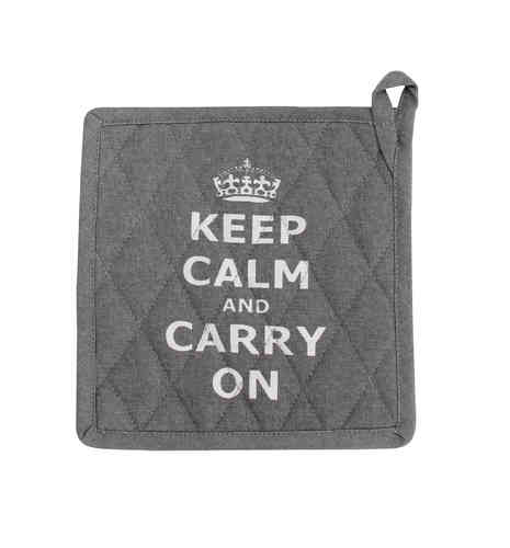 Topflappen KEEP CALM grau by Krasilnikoff