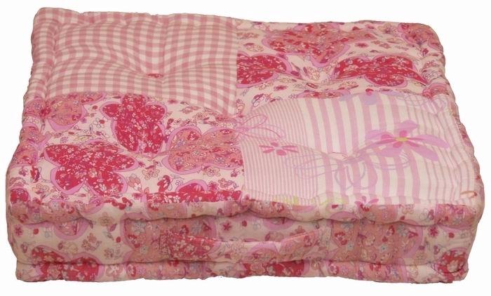 petit roses roze bodenkissen, sitzkissen 45x45cm dutch decor
