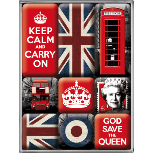Magnet-Set UNITED KINGDOM 9-teilig