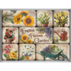 Magnet-Set ENGLISH FLOWER GARDEN 9-teilig
