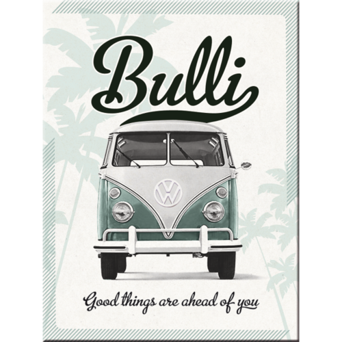 Magnet VW BULLI Good things are ahead of you 8x6cm