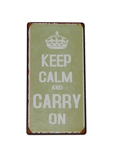 Magnet - Metallschild KEEP CALM grün 10x5cm