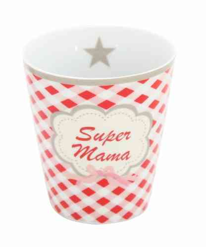 HAPPY MUG Becher SUPER MAMA HM24 by Krasilnikoff