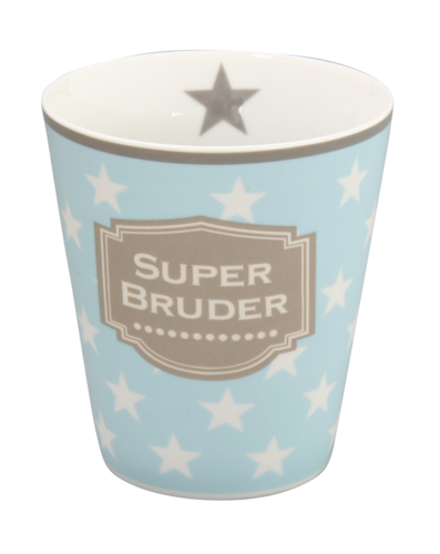 HAPPY MUG Becher SUPER BRUDER HM29 by Krasilnikoff