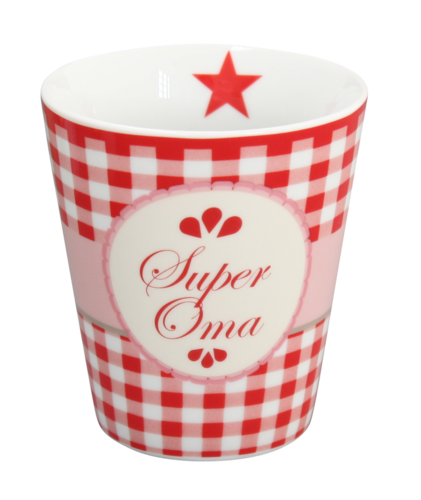 HAPPY MUG Becher SUPER OMA HM26 by Krasilnikoff