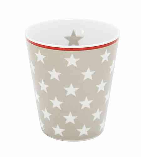 HAPPY MUG Becher STARS taupe HM13 by Krasilnikoff