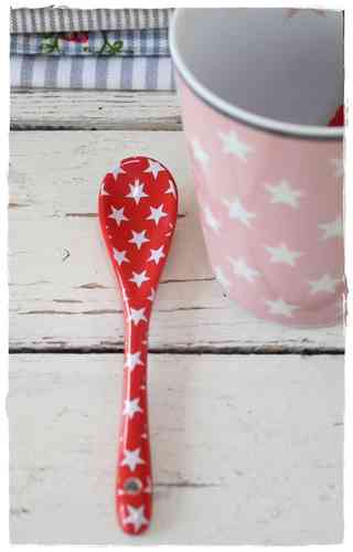 HAPPY SPOON Löffel STAR red HS12 by Krasilnikoff