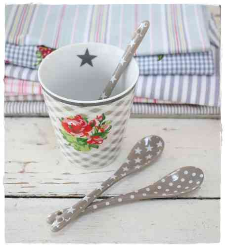 HAPPY SPOON Löffel STAR / DOT taupe HS13 / HS18 by Krasilnikoff