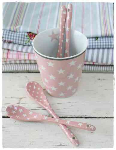HAPPY SPOON Löffel STAR / DOT rosa HS14 / HS19 by Krasilnikoff
