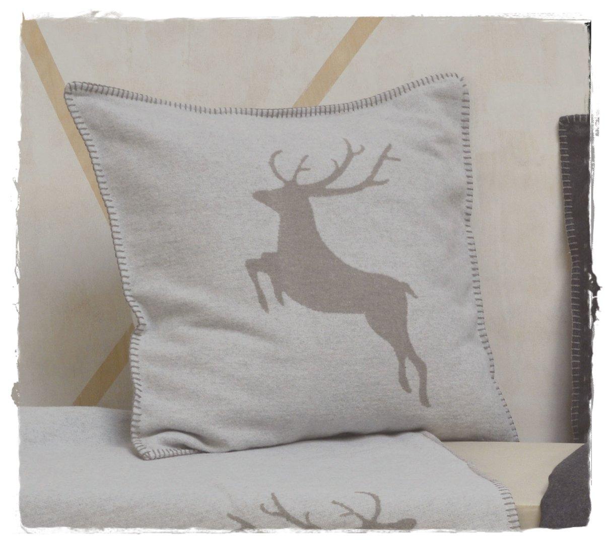 hirsch filz kissen kissenh lle sylt 50x50cm david fussenegger. Black Bedroom Furniture Sets. Home Design Ideas
