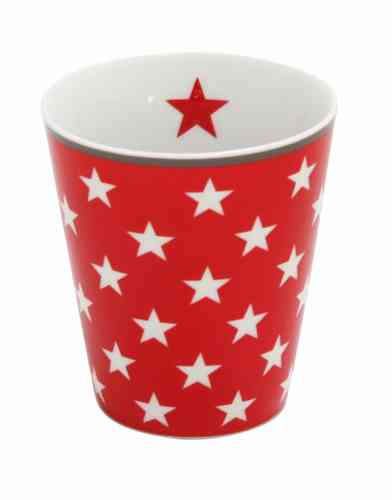 HAPPY MUG Becher STARS red HM12 by Krasilnikoff