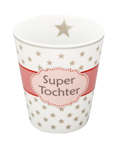 HAPPY MUG Becher SUPER TOCHTER HM79 by Krasilnikoff