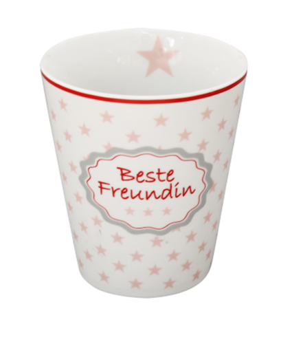 HAPPY MUG Becher BESTE FREUNDIN HM82 by Krasilnikoff