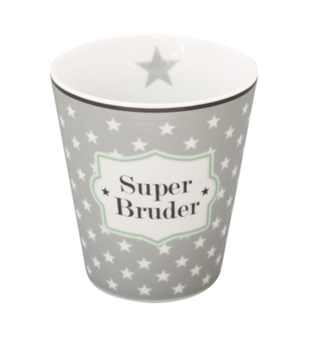 HAPPY MUG Becher SUPER BRUDER HM84 by Krasilnikoff