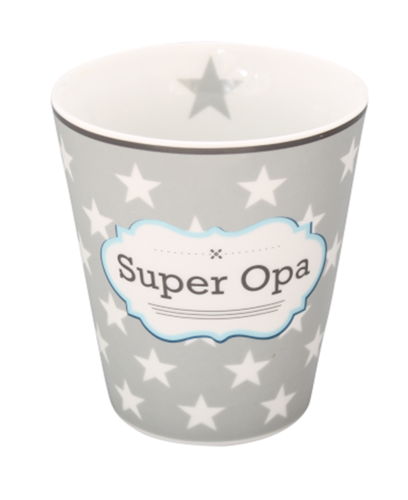 HAPPY MUG Becher SUPER OPA HM86 by Krasilnikoff