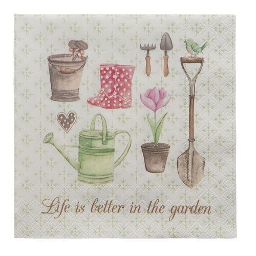 LIFE IS BETTER IN THE GARDEN 20 Papierservietten Clayre & Eef