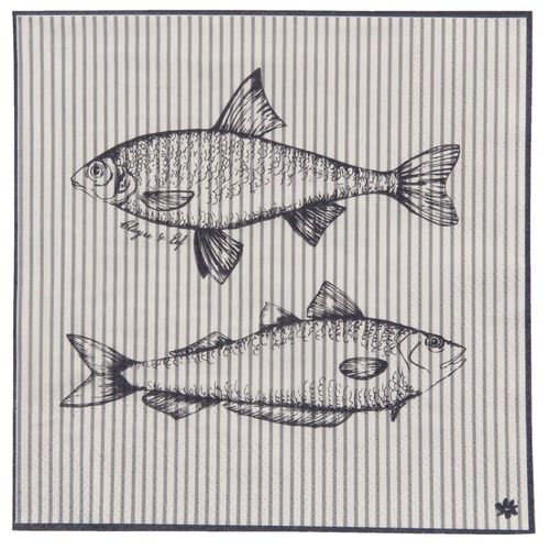 BOAT and FISH 20 Papierservietten Clayre & Eef