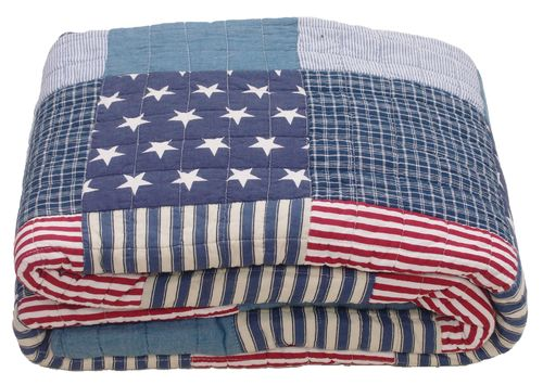 LIBERTY STARS patch Plaid, Quilt, Tagesdecke 220x240cm