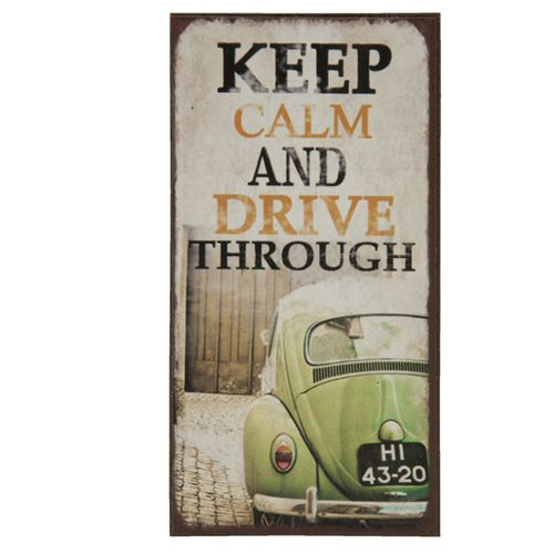 Magnet KEEP CALM AND DRIVE THROUGH 5x10cm