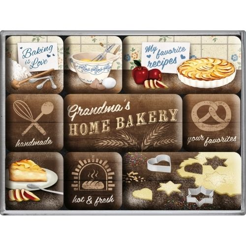 Magnet-Set HOME BAKERY 9-teilig
