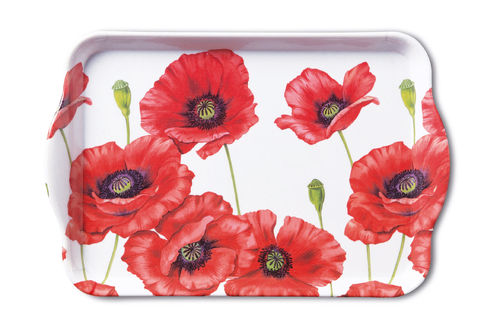 Tablett, Tray ROMANTIC POPPY 13x21cm  Ambiente