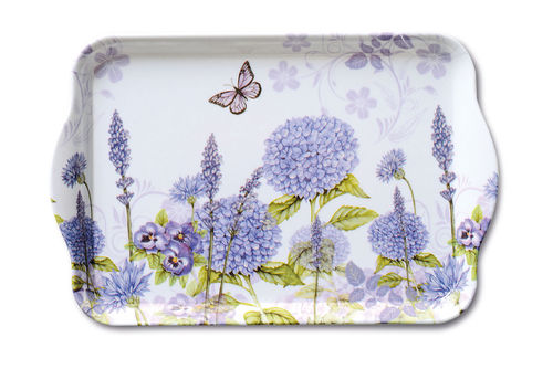 Tablett, Tray PURPLE WILDFLOWERS​ 13x21cm  Ambiente