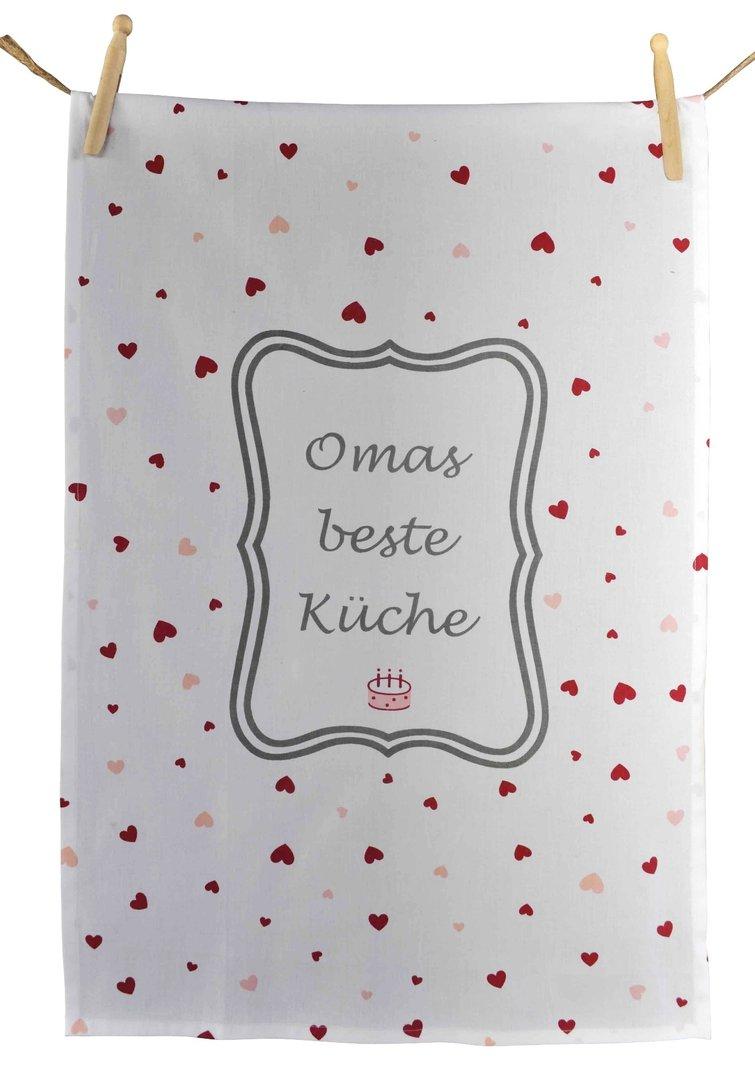 OMAS BESTE KÜCHE Geschirrtuch 45x70cm by Artefina Design Denmark